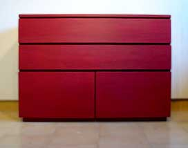 Commode - finition rouge cherry